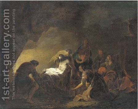 The Entombment of Christ by (after) Leonaert Bramer - Reproduction Oil Painting