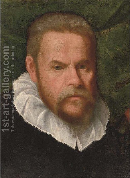 Portrait of a gentleman by (after) Lorenzo Lotto - Reproduction Oil Painting