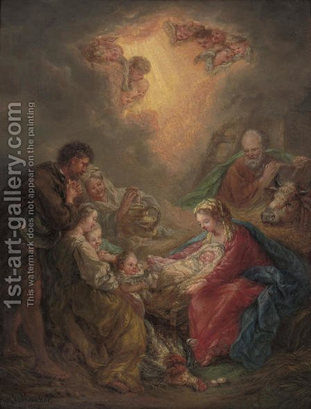 The Adoration of the Shepherds by (after) Louis Gauffier - Reproduction Oil Painting