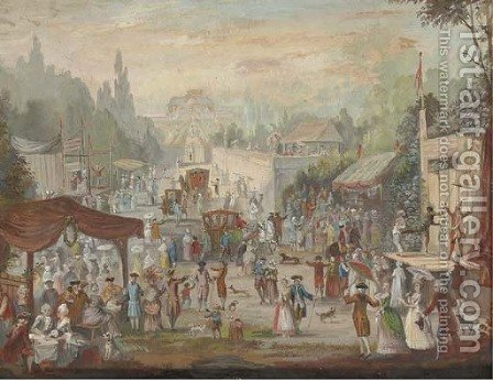 A country fair by (after) Louis Nicolael Van Blarenberghe - Reproduction Oil Painting