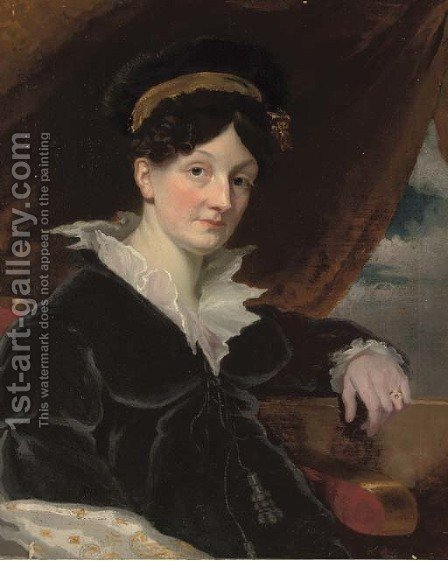 Portrait of a lady by (after) Margaret Sarah Carpenter - Reproduction Oil Painting