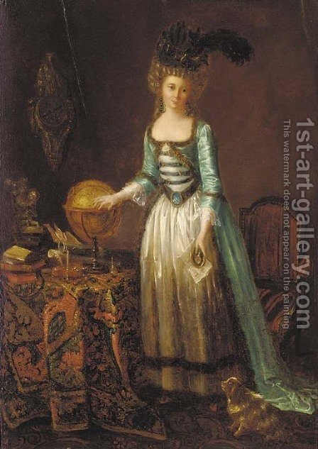 Portrait of a lady by (after) Marguerite Gerard - Reproduction Oil Painting