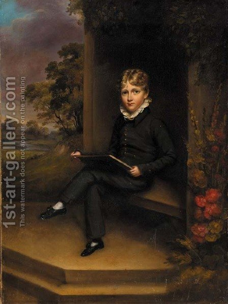 Portrait of a boy by (after) Marshall Claxton - Reproduction Oil Painting