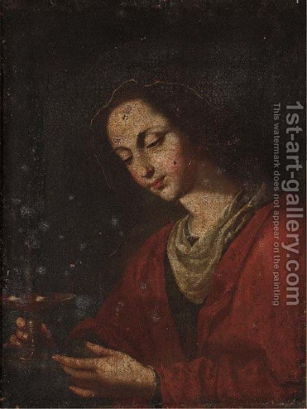 Saint Lucy by (after) Massimo Stanzione - Reproduction Oil Painting