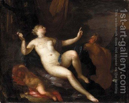 Venus with Satyrs by (after) Mattys Terwesten - Reproduction Oil Painting