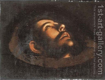 The Head of Saint John the Baptist by (after) Michelangelo Merisi Da Caravaggio - Reproduction Oil Painting