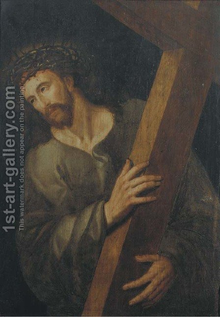 Christ carrying the Cross by (after) Michiel Van Coxcie - Reproduction Oil Painting