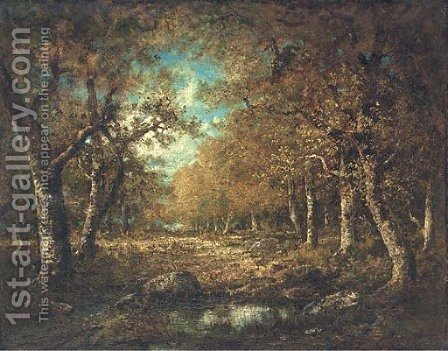Autumn by (after) Narcisse-Virgile D Az De La Pena - Reproduction Oil Painting