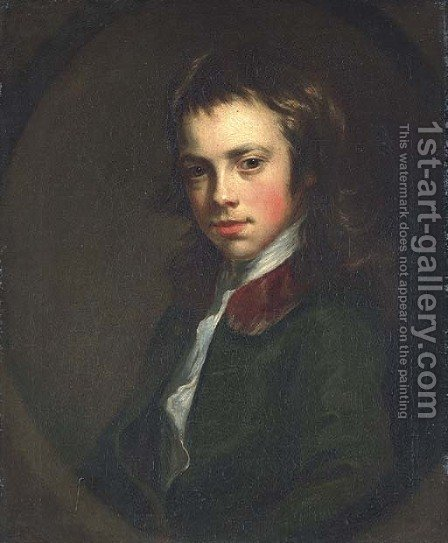 Portrait of a boy by (after) Nathaniel Hone - Reproduction Oil Painting