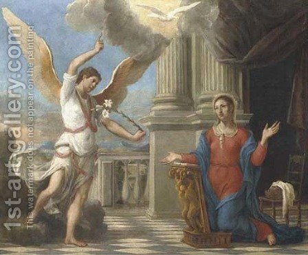 The Annunciation by (after) Nicolas Colombel - Reproduction Oil Painting