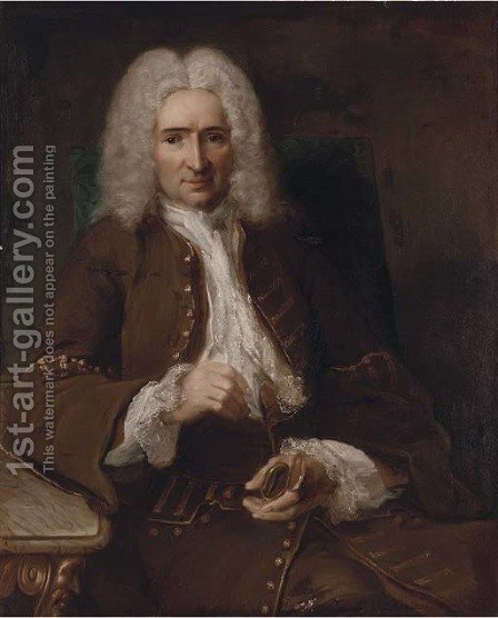 Portrait of Sebastien Chastatain by (after) Nicolas De Largillierre - Reproduction Oil Painting