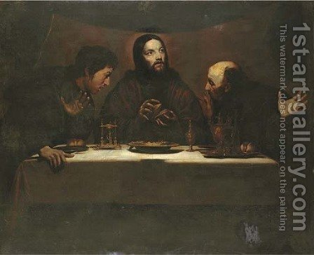 The Supper at Emmaus by (after) Nicolas Tournier - Reproduction Oil Painting