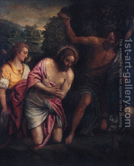 The Baptism of Christ by (after) Paolo Veronese (Caliari) - Reproduction Oil Painting
