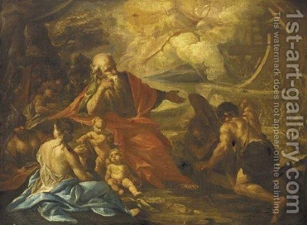 God instructing Noah by (after) Paolo Di Matteis - Reproduction Oil Painting