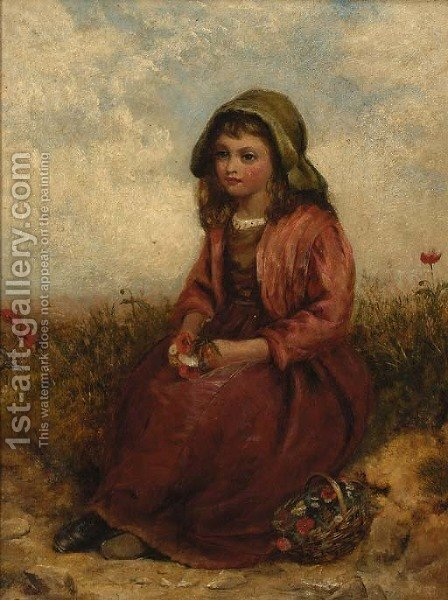 Gathering wild-flowers by (after) Paul Falconer Poole - Reproduction Oil Painting