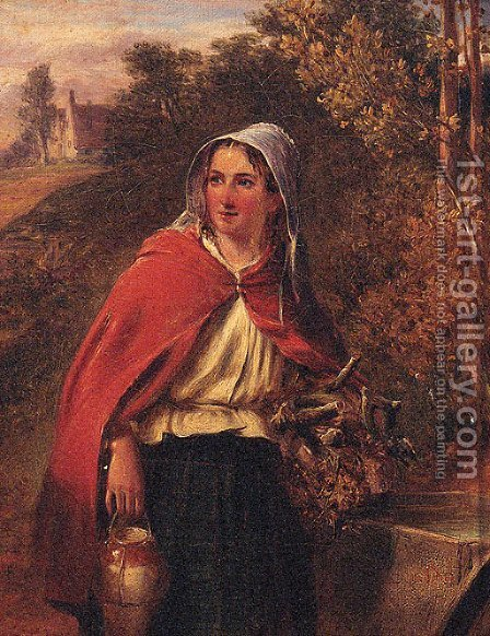 The Wood Gatherer by (after) Paul Falconer Poole - Reproduction Oil Painting
