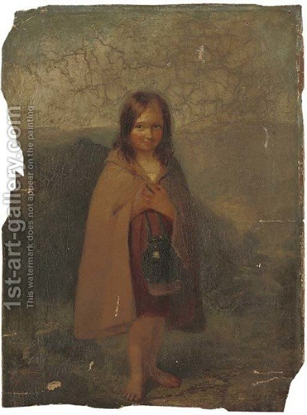 The young water-carrier by (after) Paul Falconer Poole - Reproduction Oil Painting
