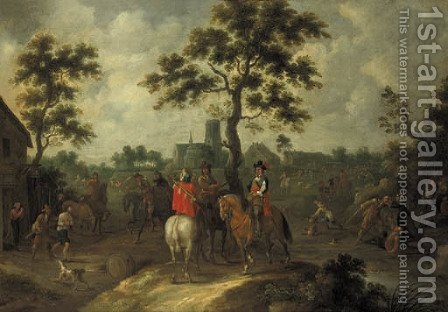 An ambush in a village by (after) Pieter Snayers - Reproduction Oil Painting