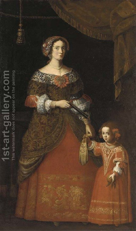Double portrait of a lady and her daughter by (after) Pier Francesco Cittadini - Reproduction Oil Painting