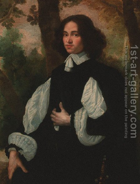 Portrait of a gentleman 2 by (after) Pier Francesco Cittadini - Reproduction Oil Painting