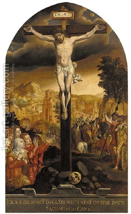 The Crucifixion by (after) Pieter Aertsen - Reproduction Oil Painting