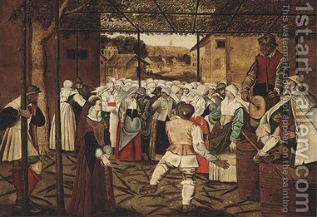 The Dance of the Catherinettes by (after) Pieter The Younger Brueghel - Reproduction Oil Painting