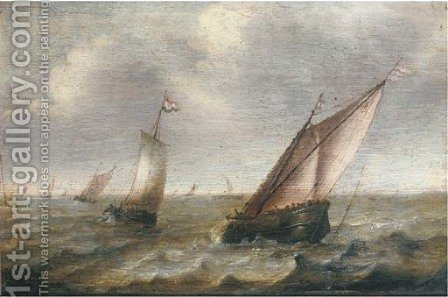 Shipping on choppy waters by (after) Pieter The Younger Mulier (Tampesta, Pietro) - Reproduction Oil Painting