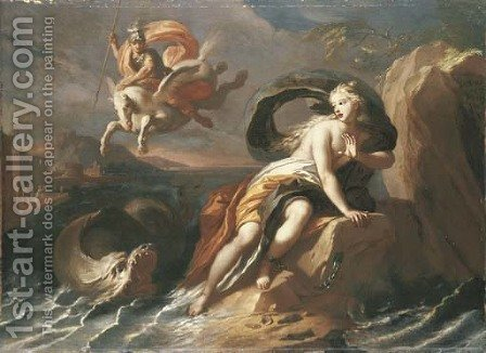Perseus and Andromeda by (after) Pietro Del Po - Reproduction Oil Painting