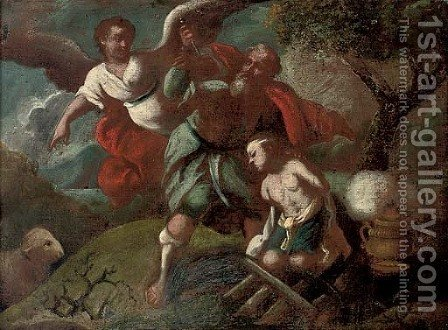 The Sacrifice of Isaac by (after) Pietro Liberi - Reproduction Oil Painting