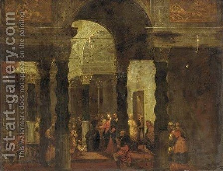 The Raising of Lazarus by (after) Pietro (Il Mirandolese) Paltronieri - Reproduction Oil Painting