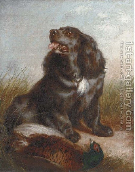 Guarding the pheasant by (after) Richard Ansdell - Reproduction Oil Painting