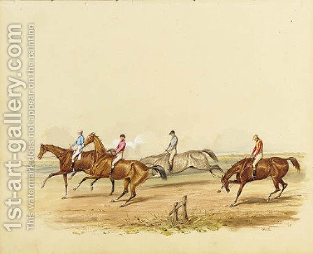 The start of the race by (after) Samuel Henry Gordon Alken - Reproduction Oil Painting
