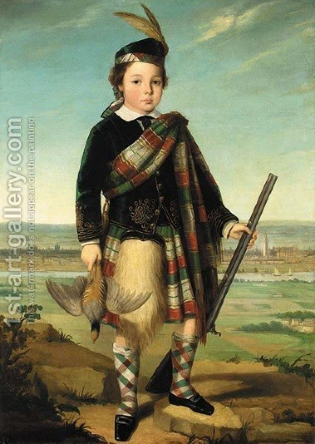 Portrait of a boy by (after) Sir John Watson Gordon - Reproduction Oil Painting