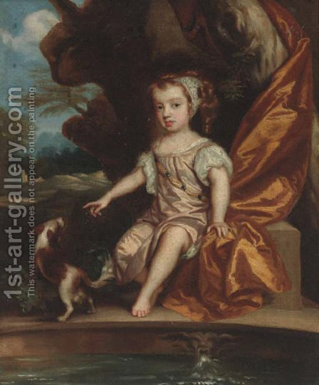 Portrait of a child by (after) Sir Peter Lely - Reproduction Oil Painting