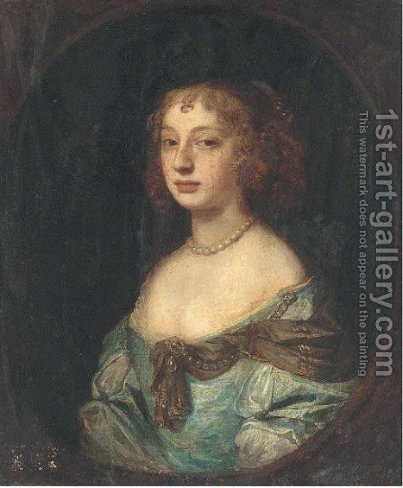Portrait of a lady by (after) Sir Peter Lely - Reproduction Oil Painting