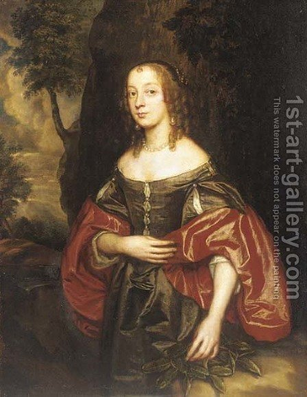 Portrait of Isabella Chicheley, nee Lawson by (after) Sir Peter Lely - Reproduction Oil Painting