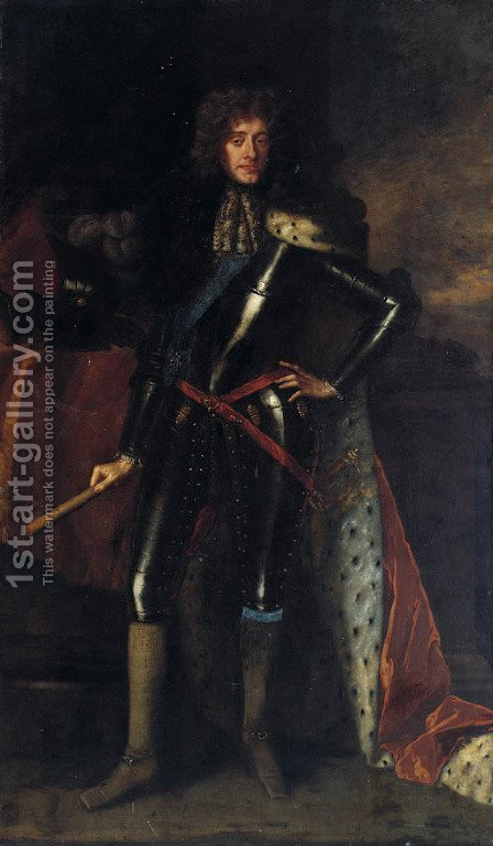 Portrait of James, Duke of York, later King James II (1633-1701) by (after) Sir Peter Lely - Reproduction Oil Painting