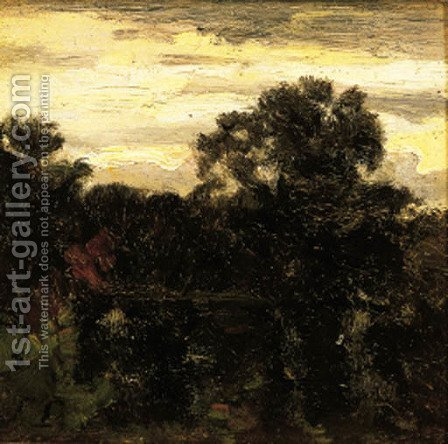 Une foret au soleil couchant by (after) Stanislas Lepine - Reproduction Oil Painting