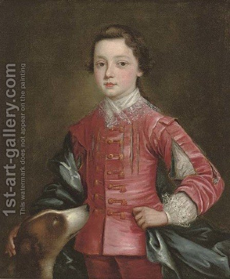 Portrait of a boy by (after) Thomas Bardwell - Reproduction Oil Painting