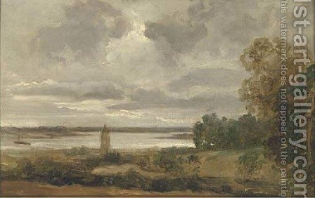 River Deben, near Woodbridge by (after) Thomas Churchyard - Reproduction Oil Painting