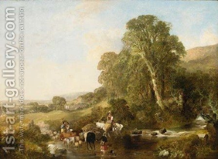 Going to market by (after) Thomas Creswick - Reproduction Oil Painting