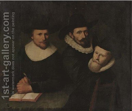 Portrait of three gentlemen by (after) Thomas De Keyser - Reproduction Oil Painting