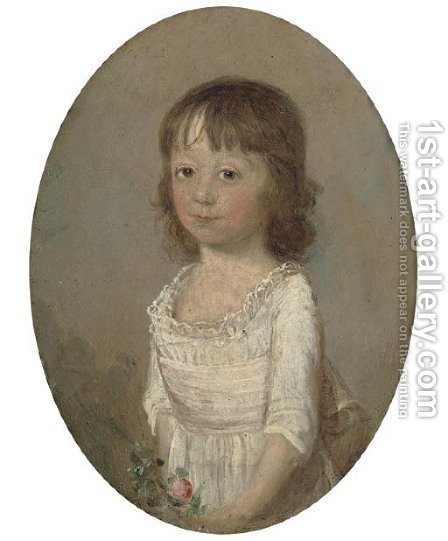 Portrait of Mary Seppings by (after) Thomas Hickey - Reproduction Oil Painting