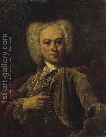 Portrait of a Nobleman by (after) Vittore Ghislandi - Reproduction Oil Painting