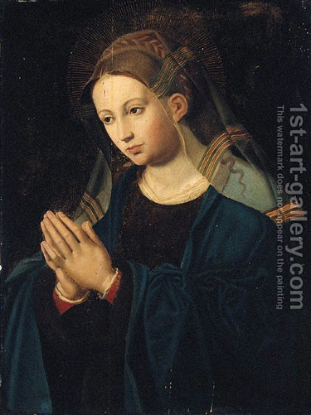 The Virgin at prayer by (after) Willem Adriaensz Key - Reproduction Oil Painting