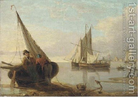 Waiting for the tide by (after) William Anderson - Reproduction Oil Painting