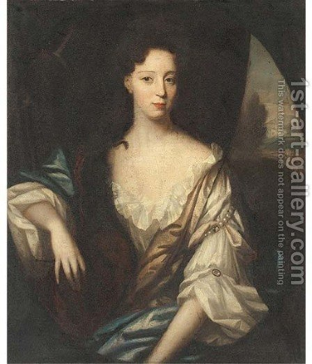 Portrait of a lady 2 by (after) William Wissing Or Wissmig - Reproduction Oil Painting