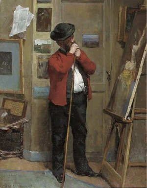 Reproduction oil paintings - David Oyens - Visiting the artist's studio
