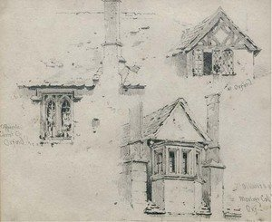 Studies of medieval windows in Oxford