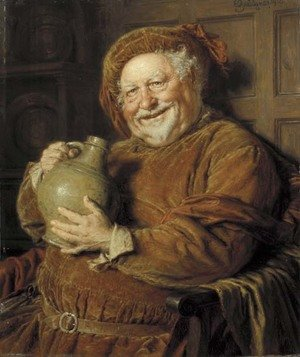 Reproduction oil paintings - Eduard Von Grutzner - Falstaff